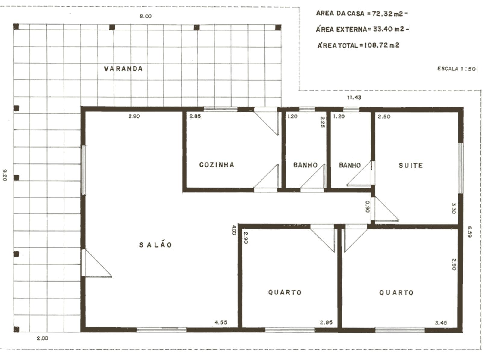 Plantas de casas para construir – Modelos Grátis #3F3527 1620 1179