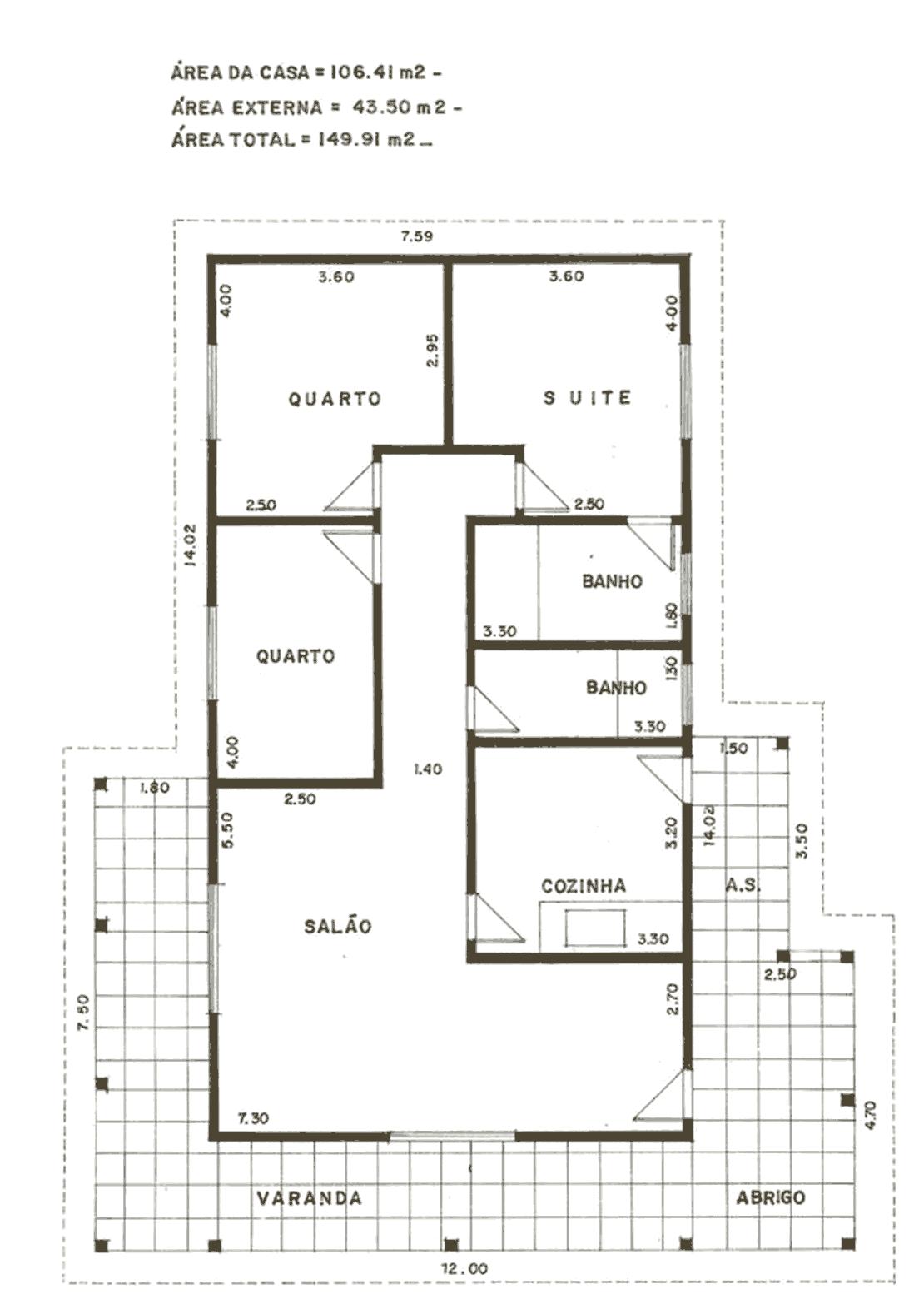 Plantas de Casas – Modelos de Plantas Grátis #3C3423 1110 1578