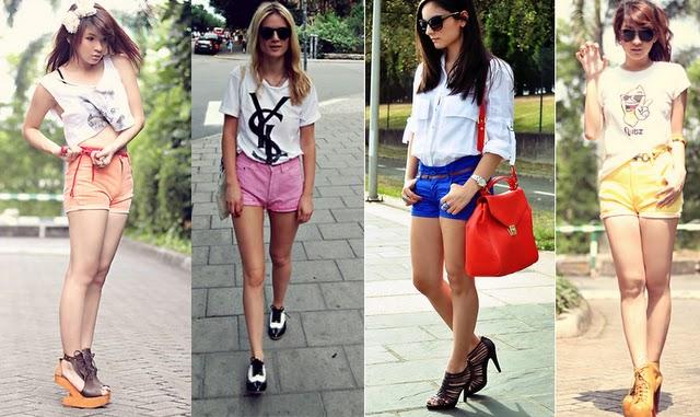 Shorts verão 2012 coloridos