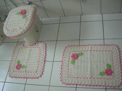 fotos de tapetes para banheiros