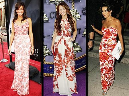 vestidos florais moda 2012