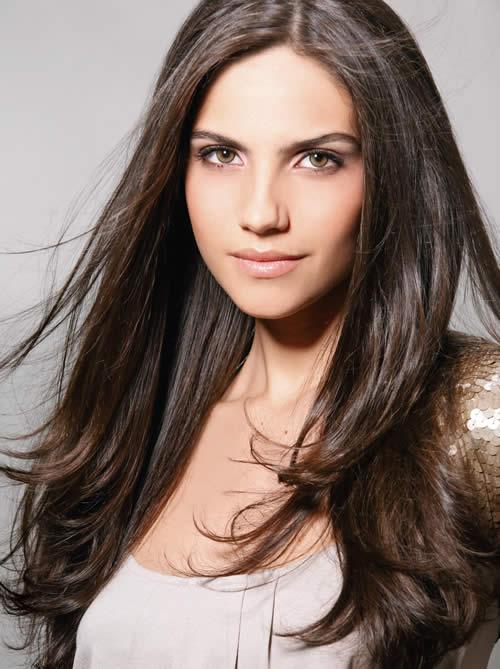 Fotos de Cortes de cabelos compridos 2012