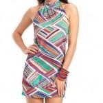 vestido de malha curto feminino