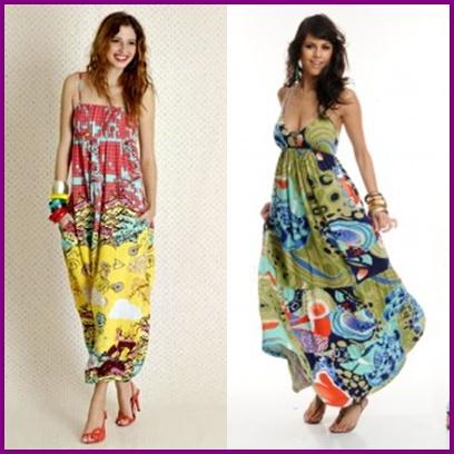 vestidos longos estampados 2012