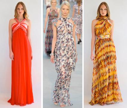 vestidos para madrinhas 2012