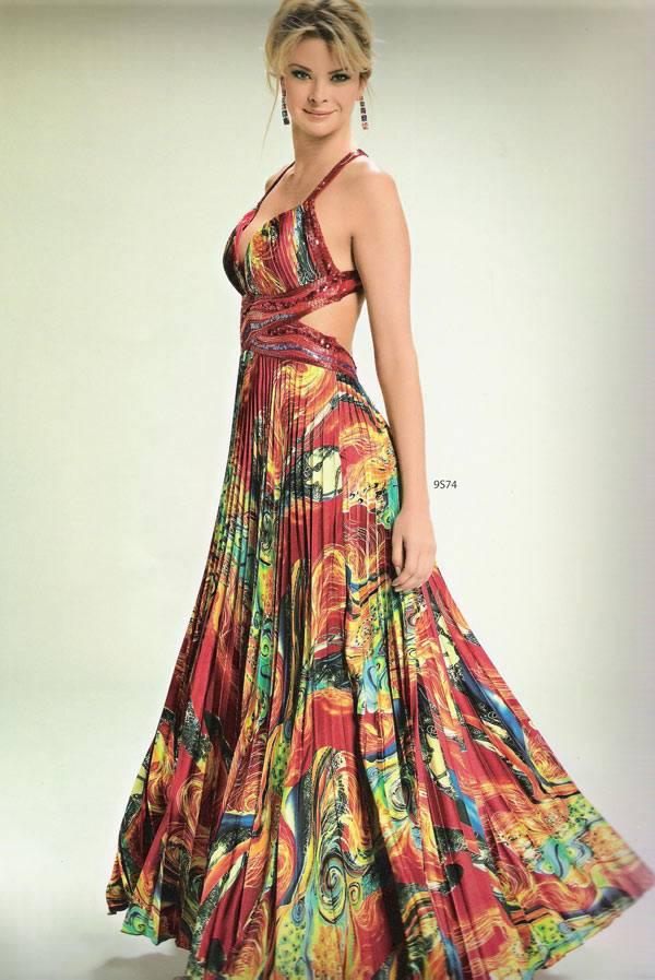 Vestidos Estampados Para Festa de Casamento 7