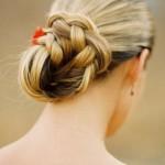 Penteados de Coque com Trança – Fotos