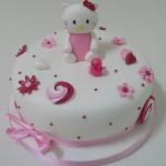 Decoração de bolo hello kitty