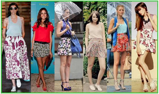 saias estampadas 2012