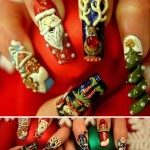 unhas decoradas para o natal