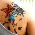 Tatuagens de Fadas femininas