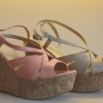 Sandálias com Salto de Cortiça