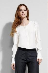 Camisa de seda feminina