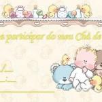 Convites para Chá de Bebê para Imprimir