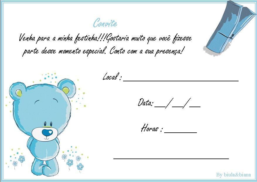 Convites de Aniversário Infantil para Imprimir