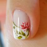 Unhas Desenhada com Rosas – Fotos, Modelos