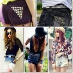 Shorts com Tachas 2013