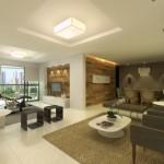 Sala decorada com 2 Ambientes