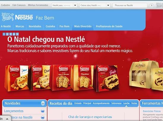 Site Nestlé Receitas