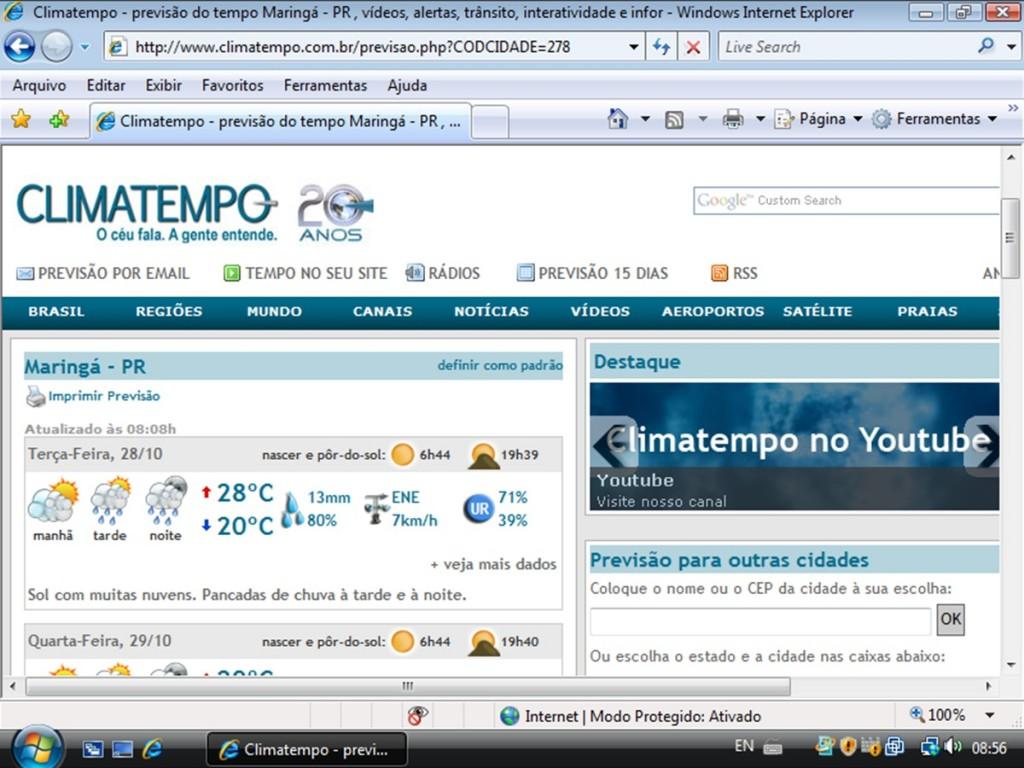 Site Clima Tempo