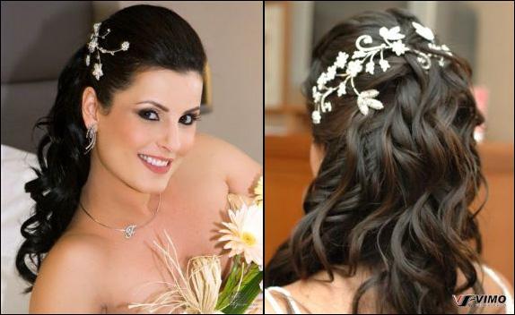 Penteados Semi Presos para Noivas