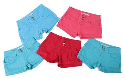 Shorts Coloridos Femininos