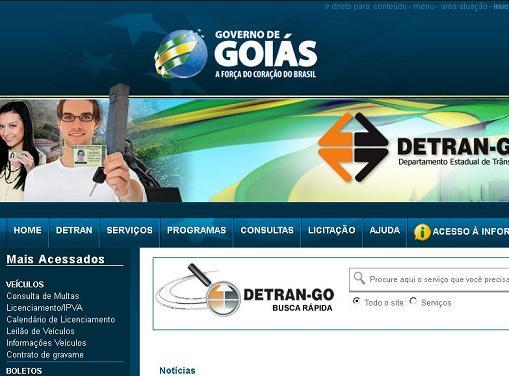 Site Detran GO