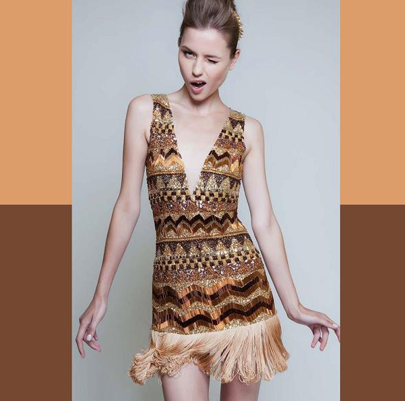 Vestidos com Franja Moda 2013