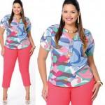 Camisas Femininas Plus Size Moda 2013: Fotos, Modelos