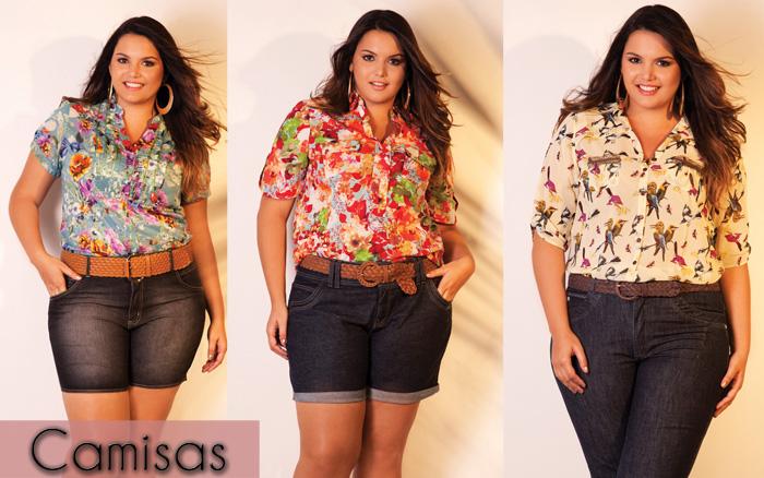 854fa8aba Camisas Femininas Plus Size Moda 2013  Fotos