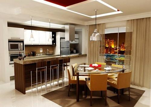 Decoração de Salas e Cozinhas Integradas, Fotos e Dicas