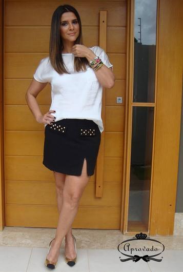 Mini Saia com Fenda Moda 2013