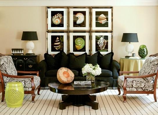 As decorações das salas geralmente são as que mais causam