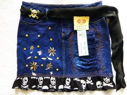 Como Customizar Saia Jeans