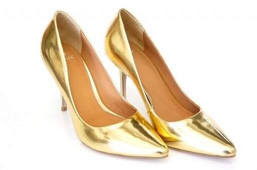 Sapatos Dourados Moda 2013