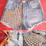 Shorts Customizados com Tachinhas, Saiba como Fazer