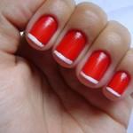 Unhas Vermelhas com Francesinha Branca: Fotos, Passo a Passo