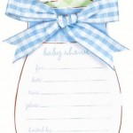 Convites simples Chá de Bebê