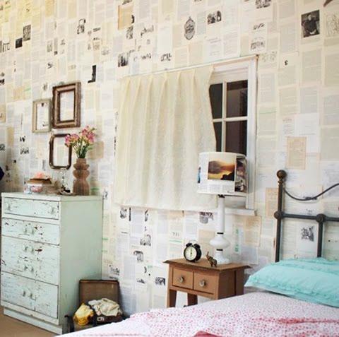 decoracao-de-paredes-com-jornais-2