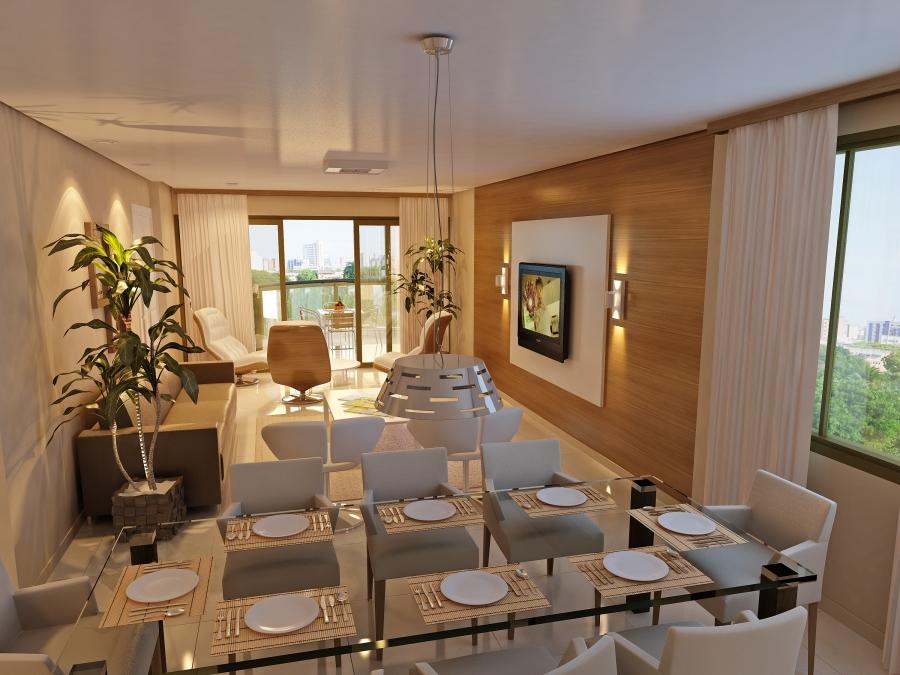 decorao de salas de estar e salas de jantar conjugadas