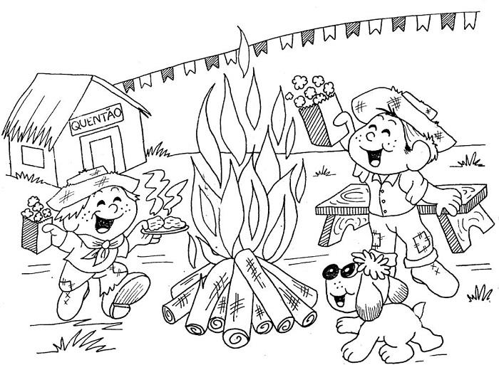 Desenho De Festa Junina Para Imprimir E Colorir 7