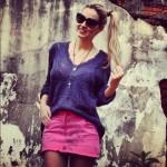 Saias Coloridas Moda 2013