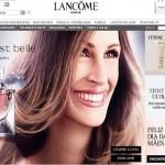 Site Lancôme, www.lancome.com.br