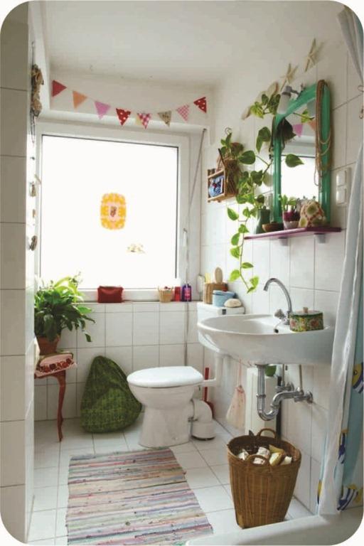 Banheiro Decorado com Plantas  Fotos e Dicas para Decorar -> Banheiro Simples Com Planta