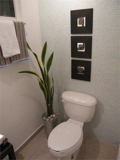 Banheiro Decorado com Plantas  Fotos e Dicas para Decorar -> Banheiro Decorado Com Planta Artificial
