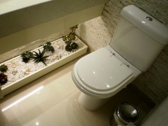 Banheiro Decorado com Plantas  Fotos e Dicas para Decorar -> Decoracao Banheiro Plantas