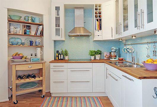 simples e barata para cozinha pequenaIdéias de decoração para casa