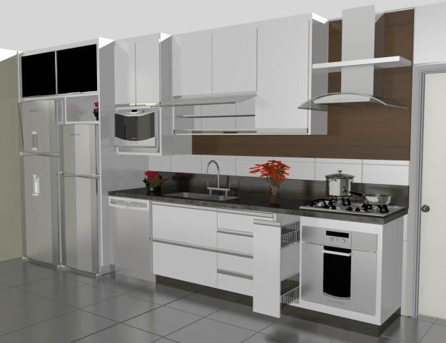 Modelos de Armários para Cozinhas Simples e Modernas # Armario De Cozinha Branco E Verde