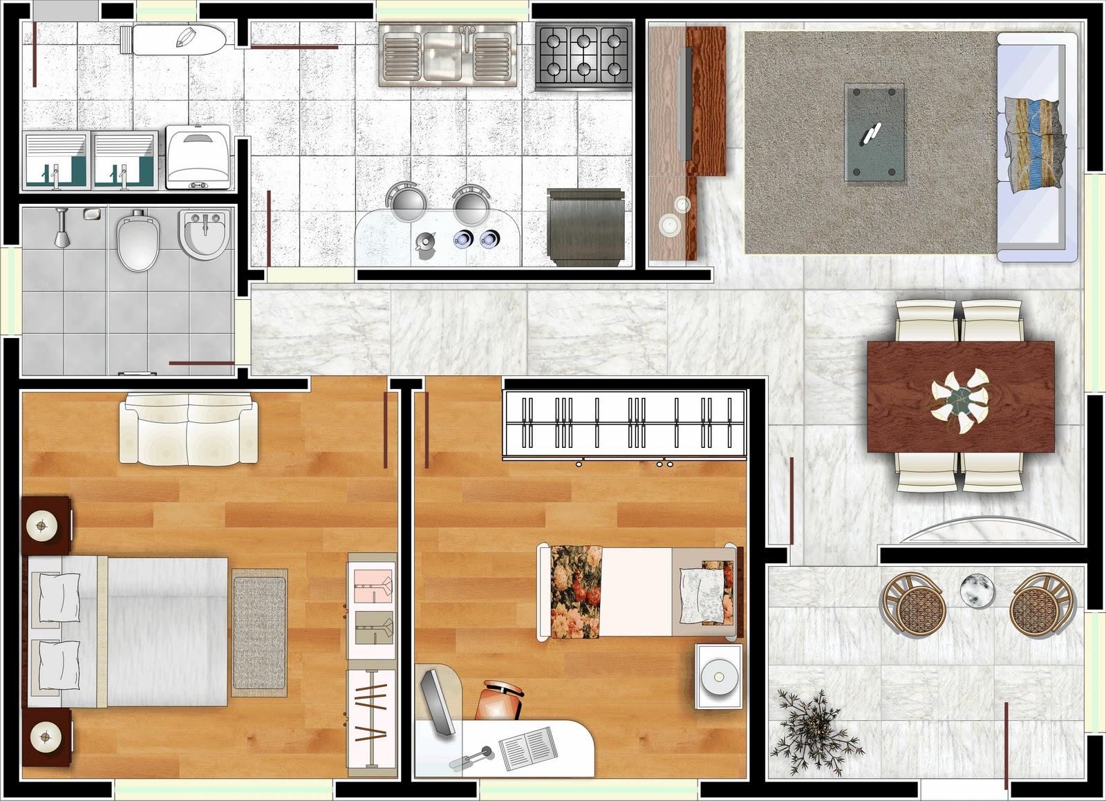 #9D662E para dar uma ajuda aqui vão na galeria algumas fotos de plantas de  1600x1159 px um banheiro para dois quartos