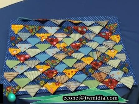Tapetes de retalhos de tecidos